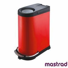 Mastrad Red Recycling Kitchen Bin by Mastrad. $318.10. Dimensions: W33 x D60 x H70cm, x1 20L and x1 16L inner bins. Design: Mastrad. Material: ABS, Stainless Steel, Plastic. This unique design combines pedal and push operation to create this sophisticated savior (of the world)! The bin has two seperate 20L and 16L inner bins, a wide pedal for increased comfort and is complete with an Anti-odour filter in the lid. It's fine red finish is resilient to finger marks ...