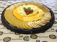 "Photo of Green Tomato Deli - ""Cheese & Crackers Platter"" - Chicago, IL Party Trays, Snacks Für Party, Appetizers For Party, Appetizer Recipes, Cheese And Cracker Platter, Cheese Platters, Meat Platter, Veggie Tray, Food Platters"