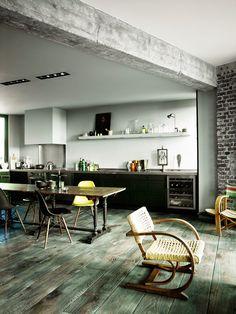 Vintage Industrial sobre los tejados de París | Etxekodeco