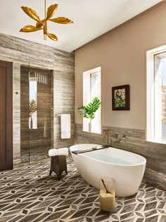 Bathroom by Dufner Heighes in New York, NY