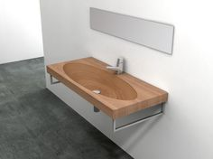 Natural Wood Sink and Washbasins by Plavisdesign