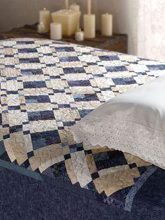 Quilting - Bed Quilt Patterns - Scrap Quilt Patterns - Blueberries & Cream (e-PatternsCentral.com)