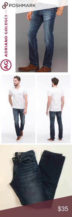 """AG Matchbox Slim Straight Jeans 34x33.5"""" ✔️Premium Soft Denim ✔️Inseam: 33.5"""" approx. ✔️75% Cotton•25% Lyocell ✔️No Holes, Stains or Damages Ag Adriano Goldschmied Jeans"""