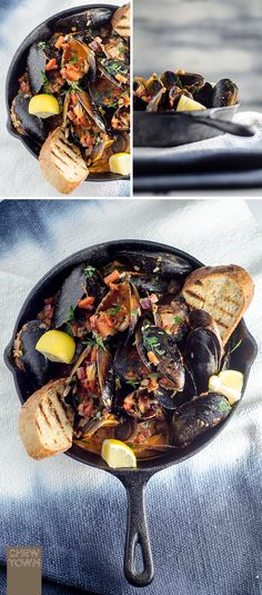 This chilli tomato mussels dish is all done and dusted start to finish in 15 minutes. Hard to believe… but true. A couple of minutes to chop onion, garlic, chilli and parsley. A couple of minutes to heat up the pot, five minutes to simmer the tomatoes, five minutes to cook the mussels, top with …