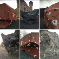 Thankfully, it wasn't too cold to attempt these #awesome #outdoor #bouldering #surfaces at #TheCastleClimbingCentre, and then it started to #rain. #London #weather for you! #awesome #climb #climber #greenlanes #northlondon #sportclimbing #stokenewington #thecastle #travel #traveller #travelling #uk #wallclimbing