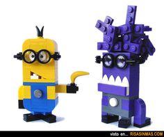 Minions hechos con LEGO.