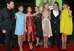 Lucy Fry (L-R) Actors Danila Kozlovsky, Sami Gayle, Sarah Hyland, Zoey Deutch, Lucy Fry, Dominic Sherwood, and Olga Kurylenko arrive at The ...