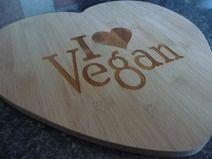 Vegan Heart Large Bamboo Cutting Board