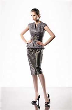Sheath High Neck Knee-length Capped Mother's #Dress Style Code: 05098 $129