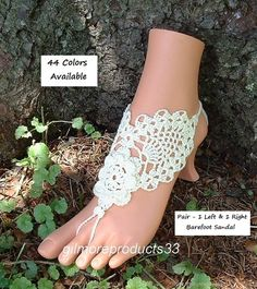 Wedding Foot Jewlery Barefoot Sandals by ABarefootSandalsShop