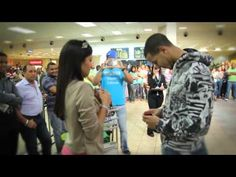 Flash mob Proposal at santo domingo airport - aww she was so surprised <3