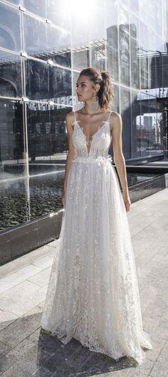 Spaghetti straps a line wedding dress : Dimitrius Dalia Wedding Dress - Diamond Bridal Collection #weddingideas #weddinginspiration #weddingdress #weddinggown #weddingdress #bridedress