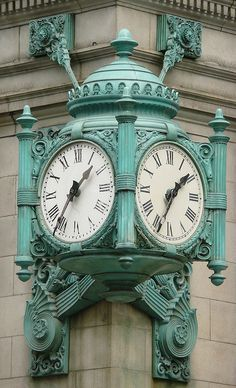 The Marshall Field's clock, corner of State Street and Randolph, Chicago Chicago City, Chicago Area, Chicago Illinois, Chicago Photos, Chicago Photography, My Kind Of Town, Antique Clocks, Fields, History