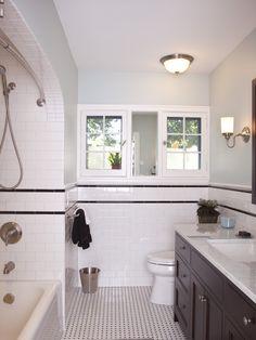 25 Best Black & White Tile images   White tiles, Bathroom ...