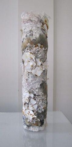 'Fungi on tree bark' Textile Sculpture, Sculpture Art, Vases, Close Up Art, Textiles Sketchbook, A Level Textiles, Coral Art, Creative Textiles, Tree Bark
