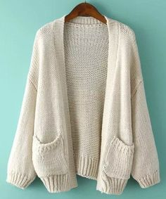 Shop Puff Sleeve With Pockets Apricot Cardigan online. SheIn offers Puff Sleeve With Pockets Apricot Cardigan & more to fit your fashionable needs. Batwing Cardigan, Beige Cardigan, Knit Cardigan, Cocoon Cardigan, Long Cardigan, Batwing Top, Cardigan Sweaters, Sweater Coats, Cardigan En Maille