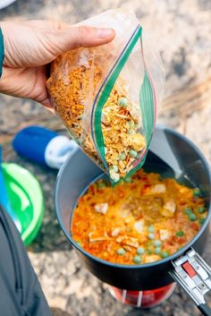 Thai Red Curry Rice with Peanut Coconut Sauce - fresh off the grid: healthy/delicious recipes for backpacking and camping - Hiking Food, Backpacking Food, Dehydrated Backpacking Meals, Ultralight Backpacking, Hiking Tips, Hiking Gear, Breakfast Low Carb, 17 Kpop, Healthy Recipes