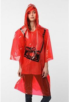 Super Cute Race Day Poncho....A MUST have in the Northwest!!!