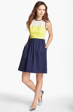 kate spade new york 'jerry' stretch cotton a-line dress available at #Nordstrom