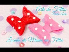 Lacinho da Minnie em Feltro ( By Arte do Feltro) - YouTube