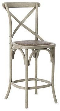 Marcello Counter Stool With Brass Nail Head Trim