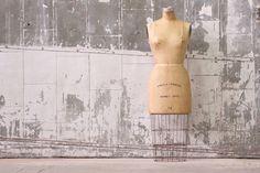 Vintage Industrial Wolf Dress Form