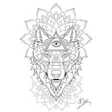 Image result for geometric wolf design