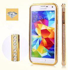Galaxy S5 Case, Luxury Diamond Crystal Rhinestone Bling Metal Frame Bumper Case for Samsung Galaxy S5 I9600 (Gold) Feihuang http://www.amazon.com/dp/B00MIFJN8K/ref=cm_sw_r_pi_dp_VikDub1D1JSJF