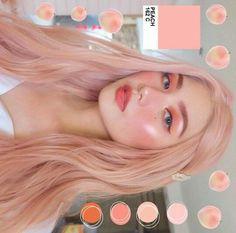 Pin/donisiavashan 🍑 Makeup Inspo, Makeup Inspiration, Beauty Makeup, Hair Makeup, Hair Beauty, Dip Dye Hair, Dyed Hair, Aesthetic Hair, Aesthetic Makeup
