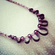 Lilac/purple inner tube necklace made of rubber от WithLoveFromLiz