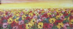 Flowers in Sunset Oil Painting