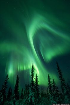 Finland's Northern Lights Aurora Borealis | Miles Morgan photographed the northern lights above the skies of the ...