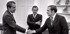 President Nixon meeting a young Dick Cheney and Donald Rumsfeld