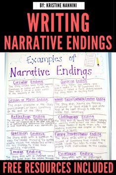Writing Narrative Endings - Young Teacher Love Writing Lessons, Teaching Writing, Writing Ideas, Teaching Ideas, 5th Grade Classroom, Middle School Classroom, Preschool Special Education, Elementary Education, Upper Elementary