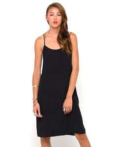 Motel Petra Midi Slip Dress in Black, TopShop, ASOS, House of Fraser, Nasty gal