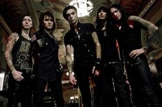Black Veil Brides; Andy Biersack-Vocals~ Ashley Purdy-Bass~ Jake Pitts-Lead Guitar~ Jinxx-Rhythmic Guitar~ CC-Drums~.