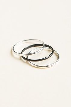 BrandyMelville Silver and Black Ring Set Found on my new favorite app Dote Shopping #DoteApp #Shopping