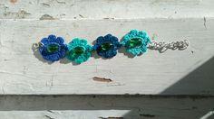 Virkattu rannekoru. Crocheted bracelet.