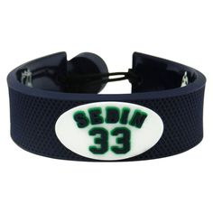 Vancouver Canucks Henrik Sedin Team Color Leather Bracelet