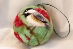 Chickadee on Sumac Ornament The fluffy red blooms of the sumac bush are of interest to chickadees. Together they make a nice subject for a