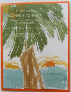 WORK OF ART SET - PALM TREE BY OCEAN SUNSET by SUZANNE JOHNSON