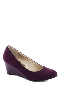 Professional Expertise Wedge in Purple, #ModCloth Wedding wedges? @Michele Morales Lee