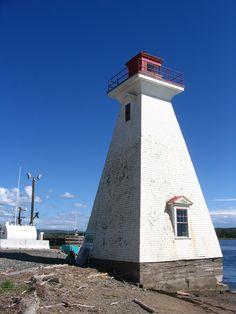 Mabou Harbor Light - Mabou, Nova Scotia.   By the sea.  Photo by J. Underwood.