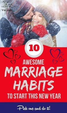 10 Great Marriage Habits to Start this New Year! Great marriage tips to strengthen your marriage. Just pick Marriage Goals, Strong Marriage, Marriage Relationship, Happy Marriage, Marriage Advice, Love And Marriage, Marriage Help, Passionate Couples, Biblical Marriage