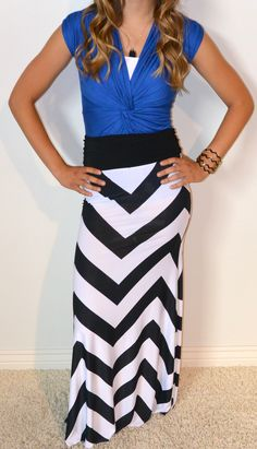 Chevron maxi skirt I want this outfit sooo bad!!! :)