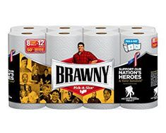 """""""wounded warriors project"""" - In solidarity with the Wounded Warriors Project, Brawny created a paper towel packaging design that highlighted the project's mission, as wel."""