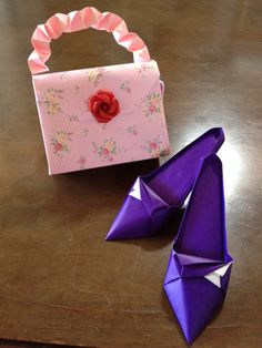 Introduction of origami ♫ high heels and ... ☻: flower Rabbit tea time