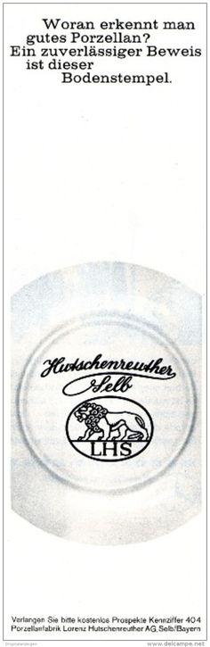 Original-Werbung / Anzeige 1963 -  LORENZ HUTSCHENREUTHER - SELB - PORZELLAN -  ca. 65 x 220 mm
