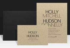 Modern Wedding Invitation - Modern & Rustic Wedding on Etsy, $3.00