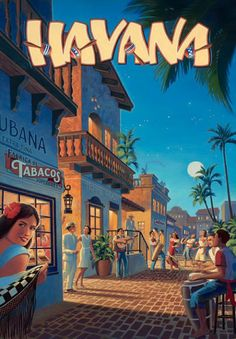 20x Vintage Travel Posters Cuba | The Travel Tester